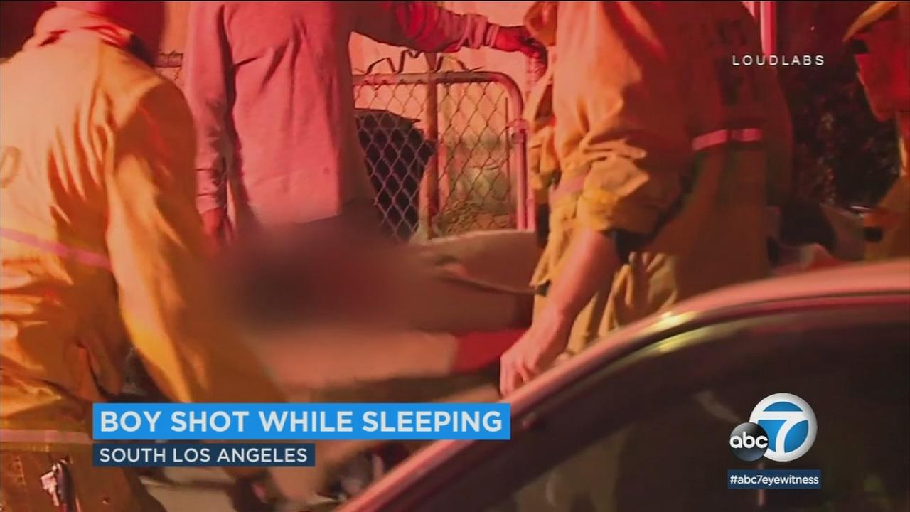 A 9-year-old boy is recovering after he was shot while he was asleep in his Los Angeles apartment.
