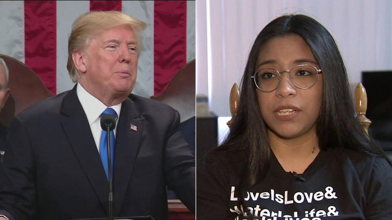 Immigrant-rights activist Karla Estrada is critical of President Donald Trumps proposals on immigration.