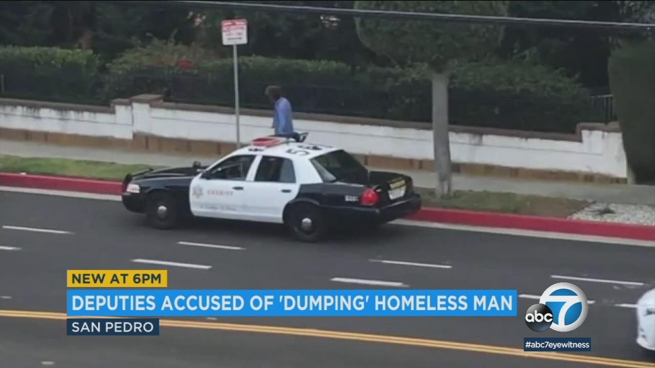 A Los Angeles city councilman is expressing outrage over a video that appears to show sheriffs deputies dumping a homeless man with possible mental health issues in San Pedro.