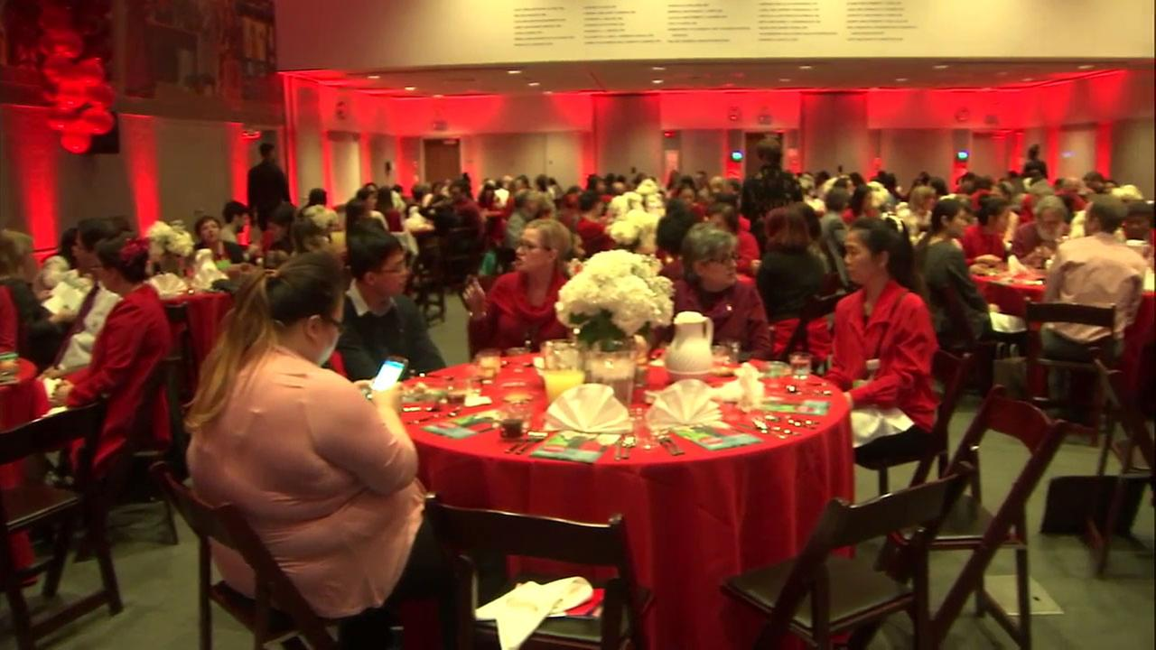 Red was the color of the day at a Cedars-Sinai Medical Center event to remind women to monitor their heart health.