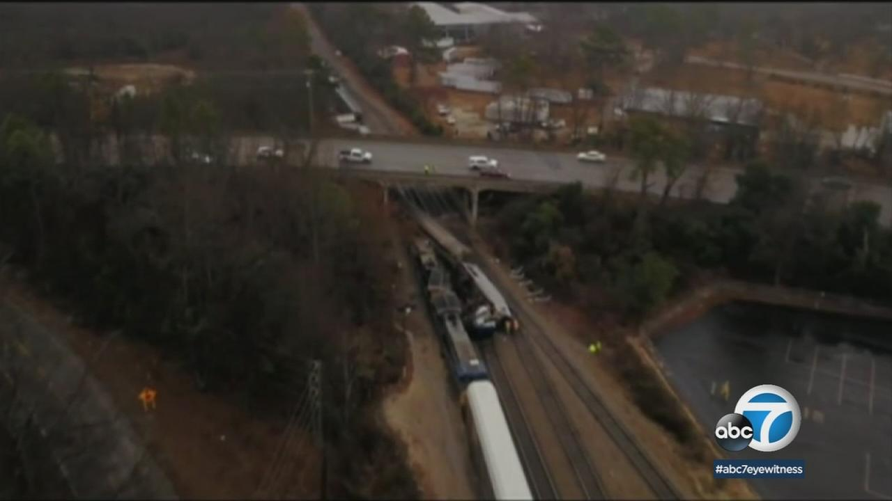 An Amtrak crash that killed two and injured over 100 in South Carolina on Sunday, Feb. 4, 2018.
