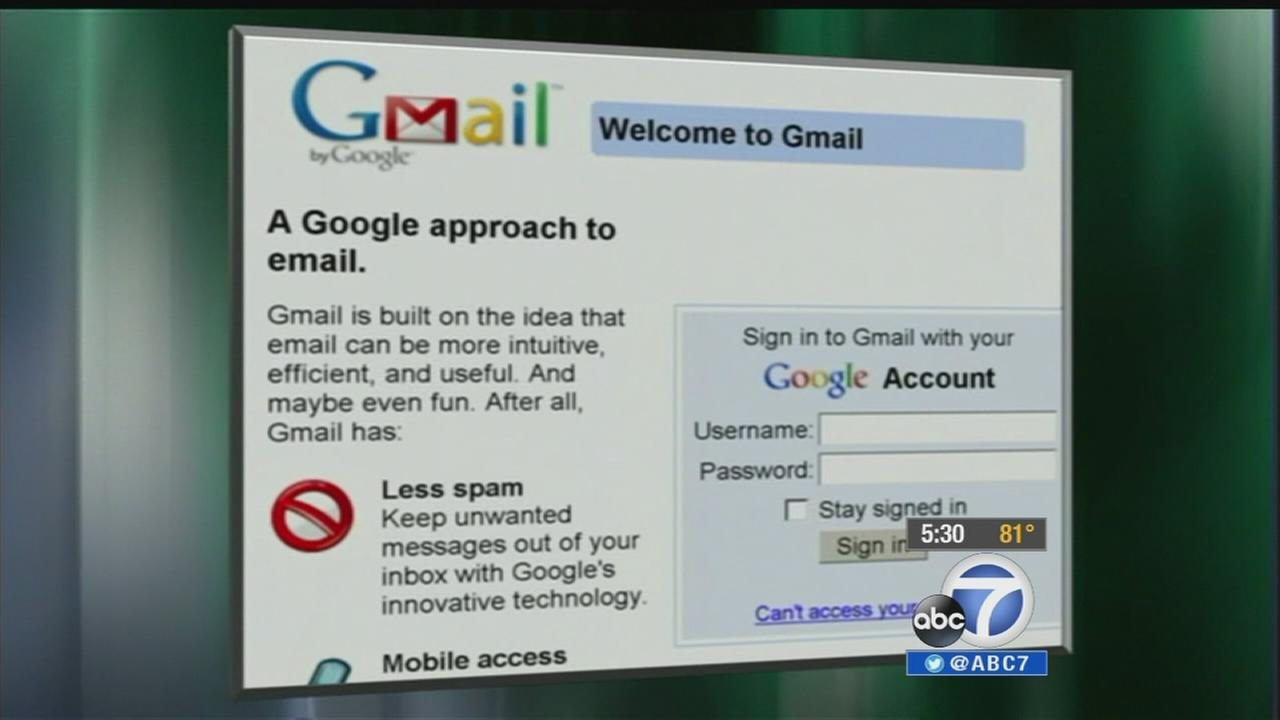 Gmail is seen in this file photo.