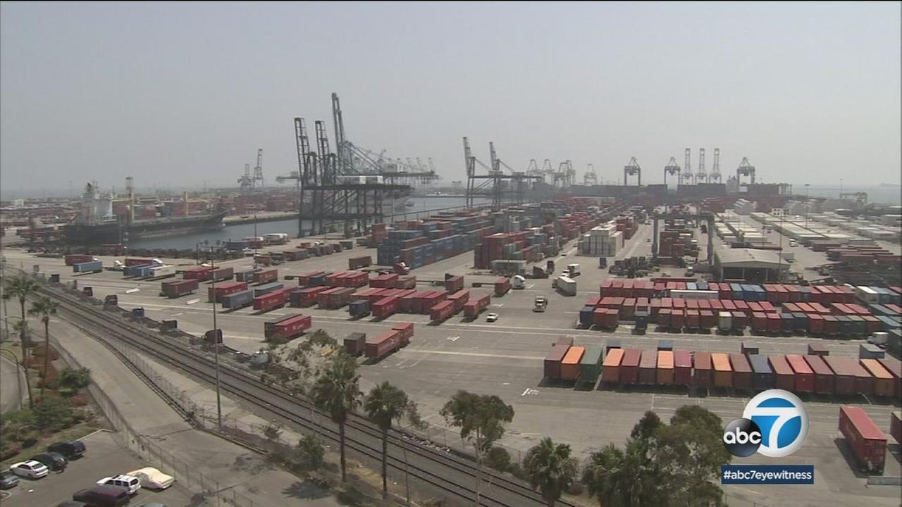 The Port of Long Beach is shown in a photo.