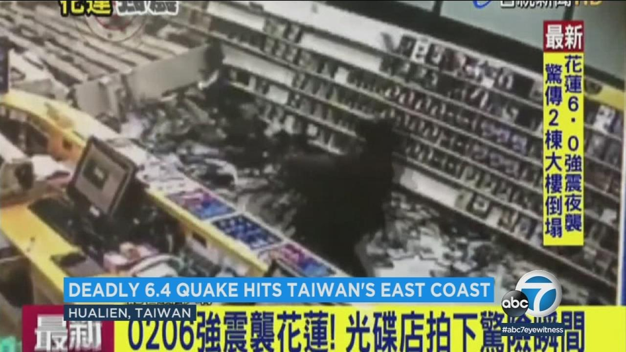 A magnitude-6.4 earthquake struck near the coast of Taiwan, killing at least two and injuring hundreds more.