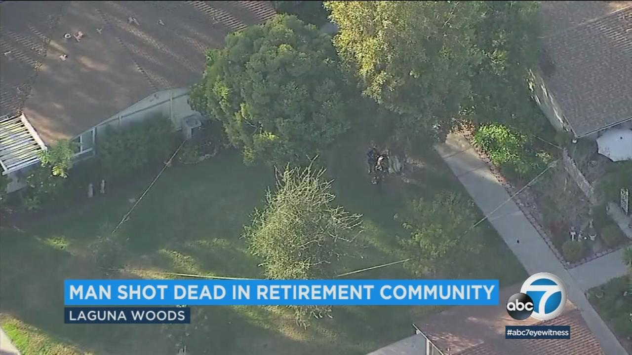 A 65-year-old man has died after being shot in a deputy-involved shooting in a residential area of Laguna Woods, authorities said.