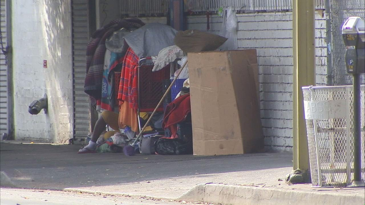 Part of Skid Row in downtown Los Angeles is seen in this undated file photo.