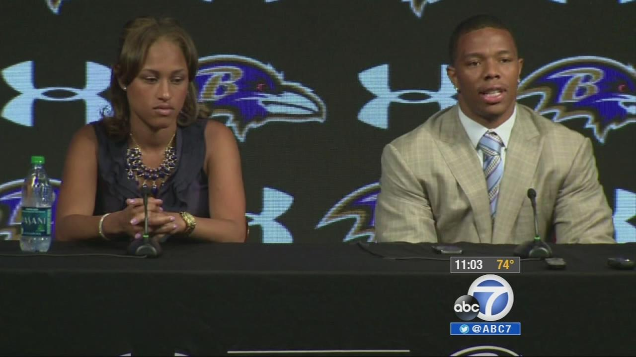 Ray Rice and his wife Janay Palmer are shown in this undated file photo.