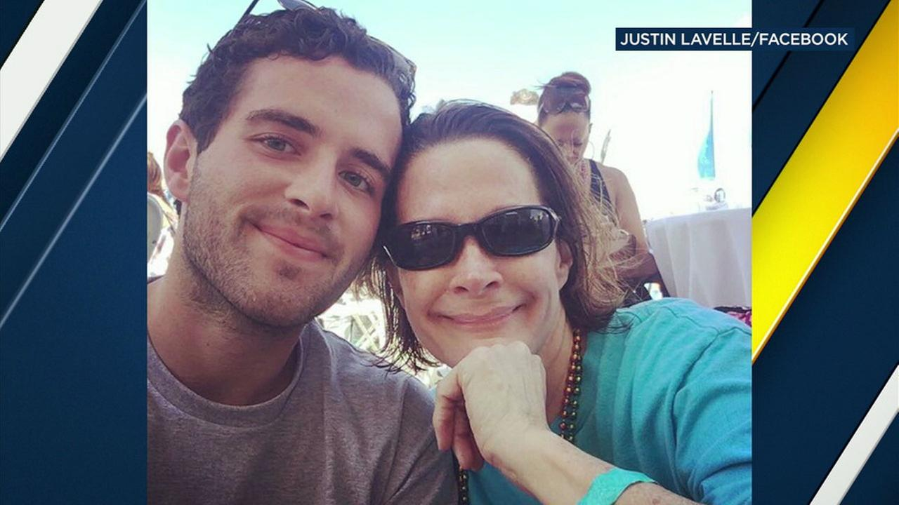 Justin Lavelle, 23, is shown in a photo with his mother, Amy Lavelle.