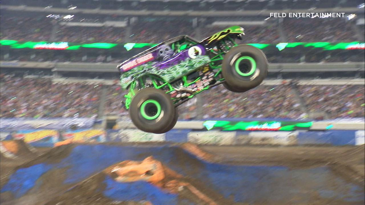 Monster Jam has roared into Angel Stadium in Anaheim this weekend.