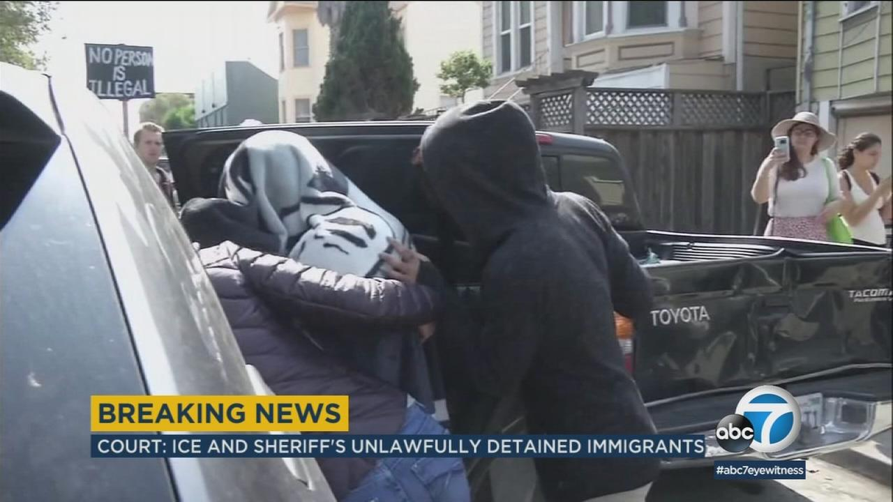 A federal judge ruled that the Los Angeles County Sheriffs Department and U.S. Immigration and Customs Enforcement officials violated the rights of detained immigrants.