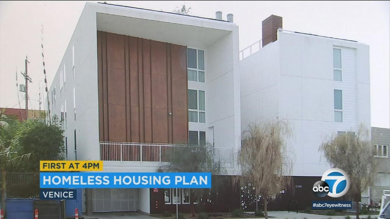 A former parking lot now has a housing unit for homeless people in Del Rey.