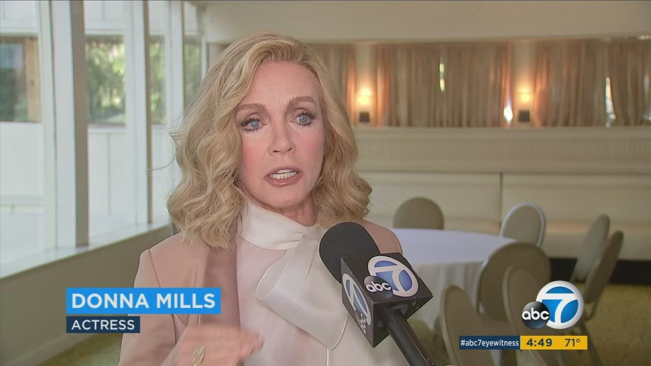Actress Donna Mills was honored for a lifetime of work, from Knots Landing to Broadway.