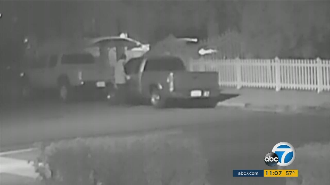 A search is underway for a pair of grand theft auto suspects after police say they stole a mans work van in North Hollywood.