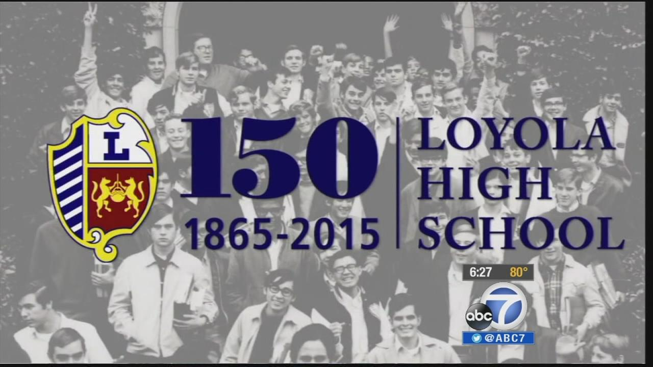 Loyola High School celebrates its 150th anniversary in the 2014-2015 school year.