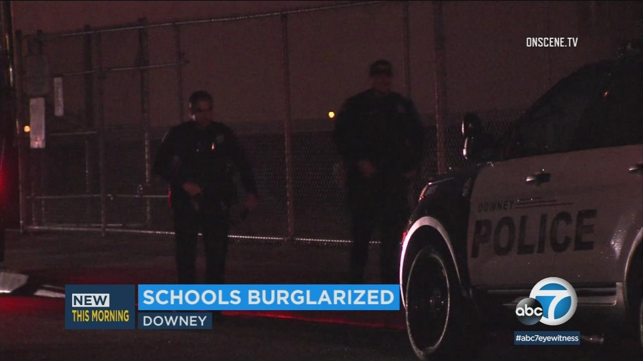 An elementary school in Downey was burglarized less than 24 hours after a similar crime at a nearby school in Whittier.
