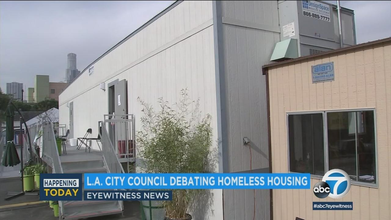 In Los Angeles, a city council committee is set to vote on two proposals Tuesday aimed at speeding up new housing for the homeless.