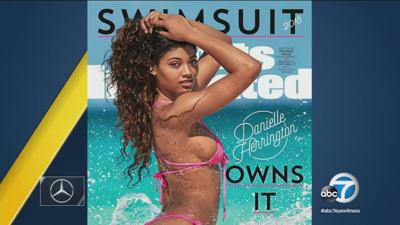Danielle Herrington appears on the cover of the 2018 swimsuit edition issue of Sports Illustrated.