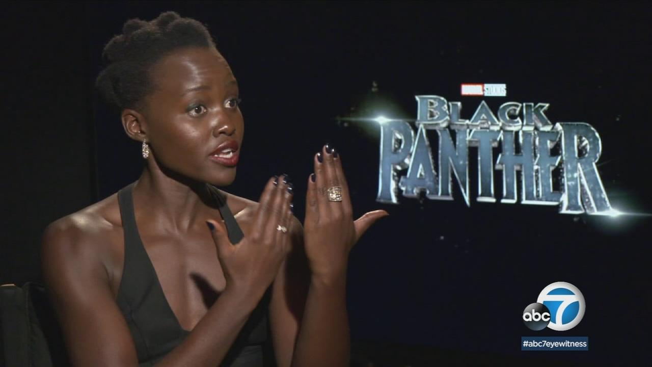 Oscar-winner Lupita Nyongo hopes Black Panther inspires the real world to emulate how their film celebrates equality.