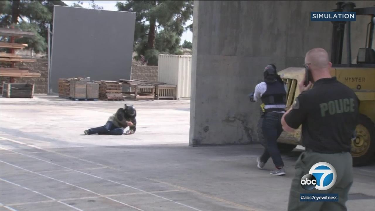 The Anaheim Police Department held a small piece of its use-of-force training for a group of journalists.