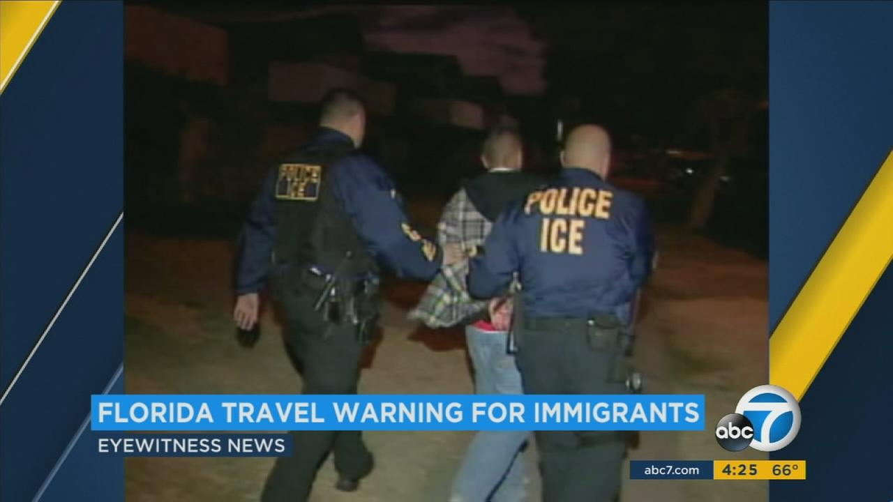 A spike in immigration arrests in Florida has prompted advocates to warn immigrants from other states to reconsider travelling to Florida or prepare for encounters with immigration enforcement.
