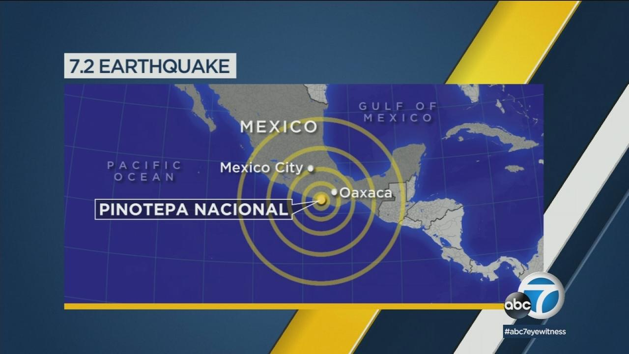 A powerful earthquake that struck Mexico on Friday, Feb. 16, 2018.