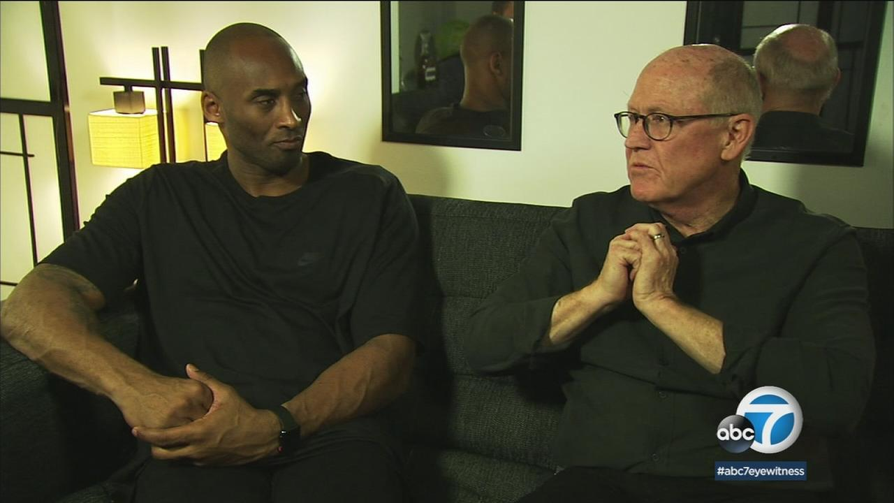 NBA legend Kobe Bryant and animator Glen Keane are shown during an interview with George Pennacchio.
