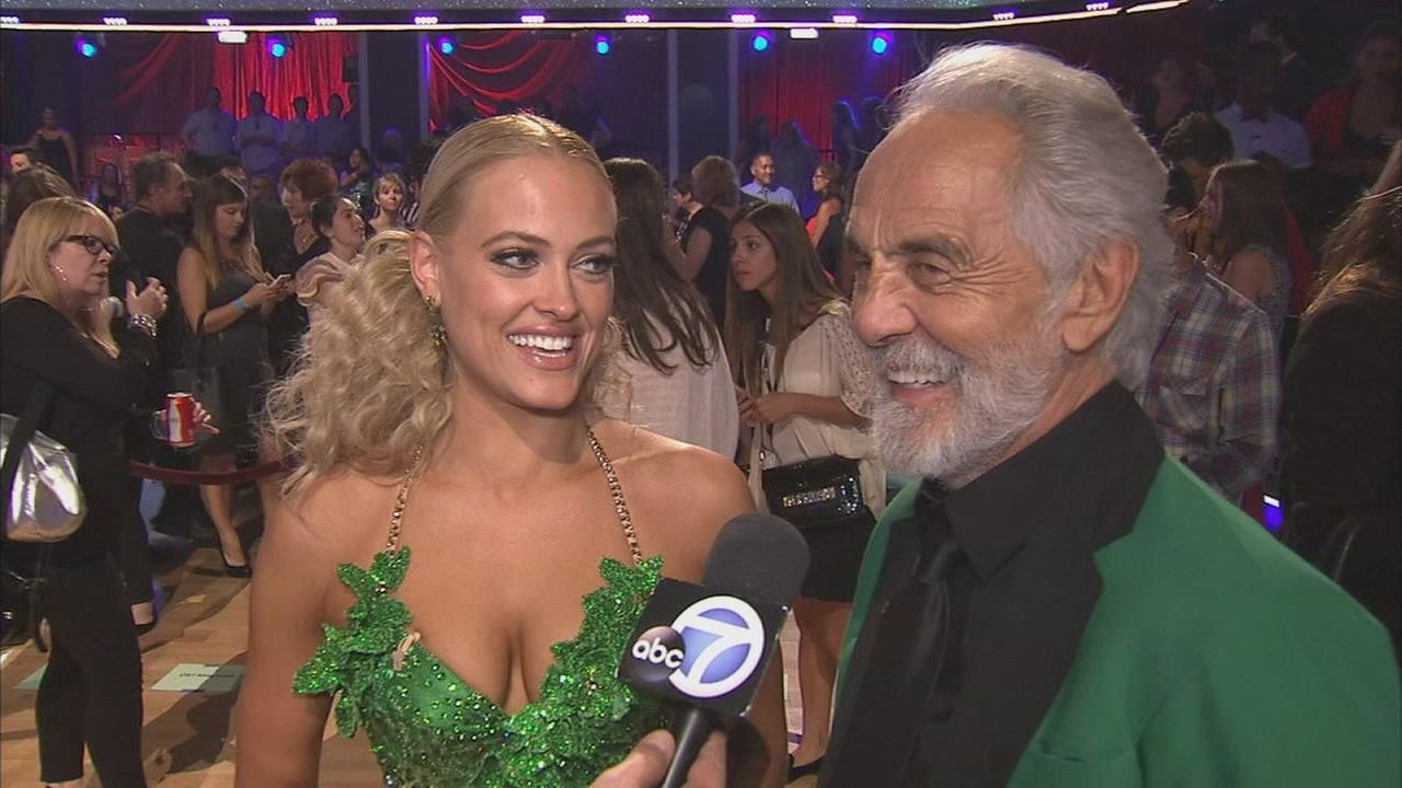 Tommy Chong and partner Peta Murgatroyd on the Dancing With The Stars Season 19 premiere on Monday, Sept. 15, 2014.