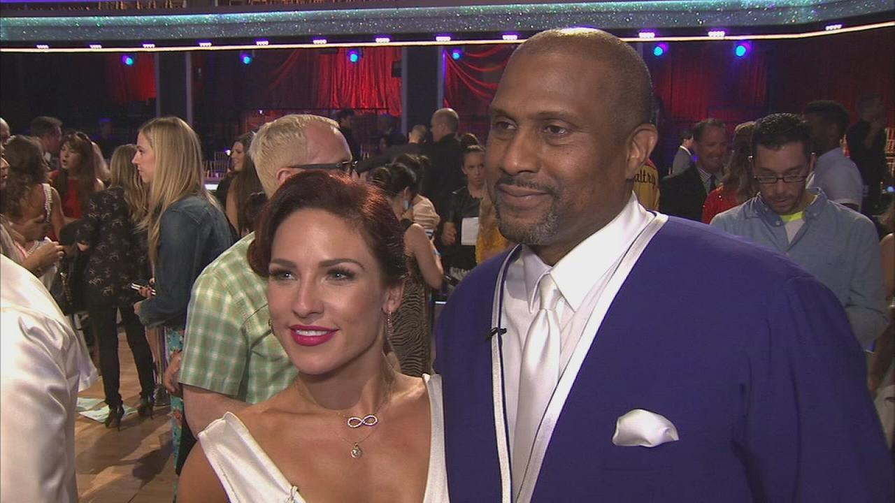 Tavis Smiley and partner Sharna Burgess on the Dancing With The Stars Season 19 premiere on Monday, Sept. 15, 2014.