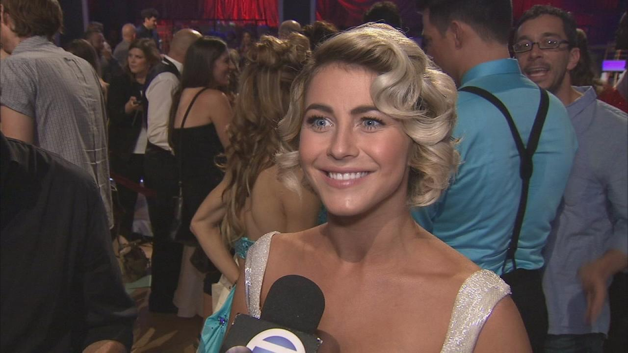 New judge Julianne Hough on the Dancing With The Stars Season 19 premiere on Monday, Sept. 19, 2014.