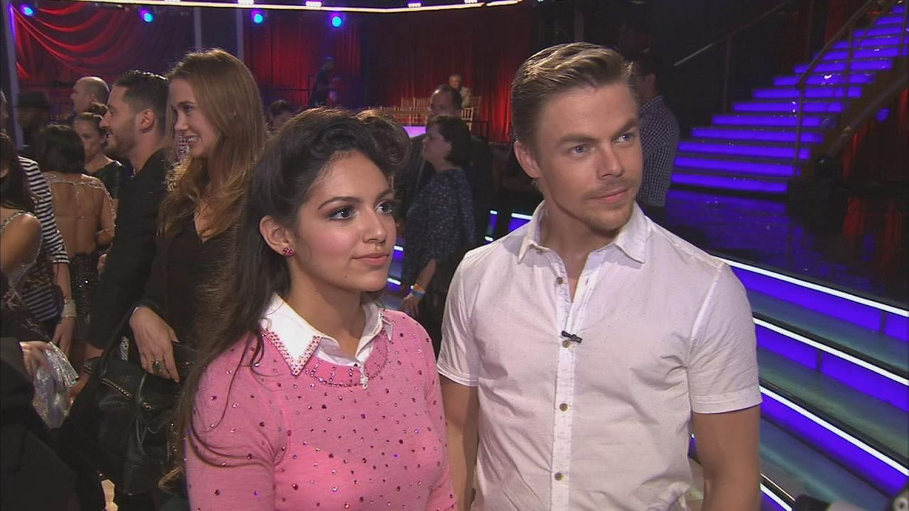 Bethany Mota and partner Derek Hough on the Dancing With The Stars Season 19 premiere on Monday, Sept. 15, 2014.