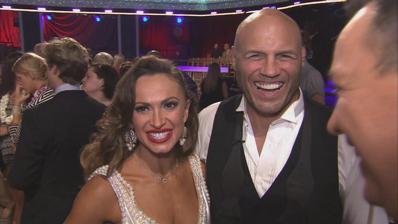 Randy Couture and partner Karina Smirnoff on Dancing With The Stars Season 19 premiere on Monday, Sept. 15, 2014.