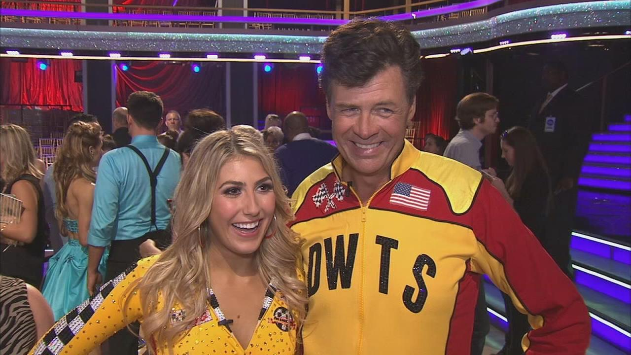 Michael Waltrip and partner Emma Slater on Dancing With The Stars Season 19 premiere on Monday, Sept. 15, 2014.