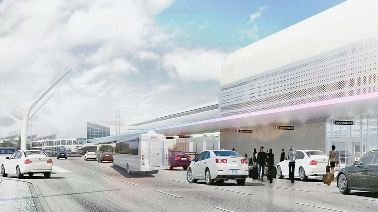Projected representation of LAX Terminal 1