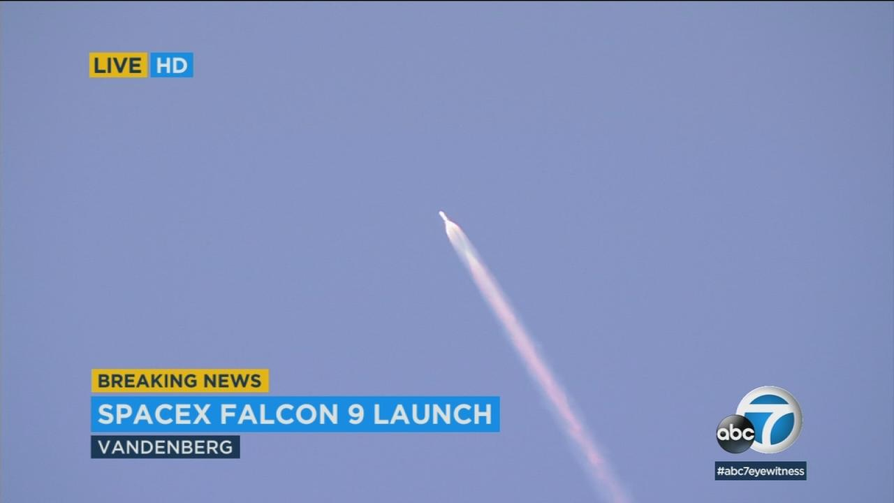 Elon Musks SpaceX launched its latest rocket from the Vandenberg Air Force Base on Thursday, Feb. 22, 2018.