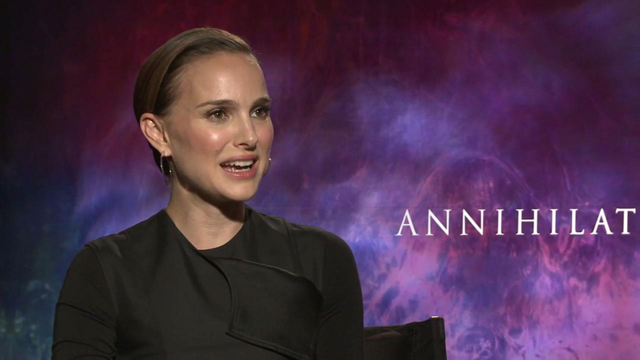 Natalie Portman talks about her new film, Annihilation, Feb. 22, 2018