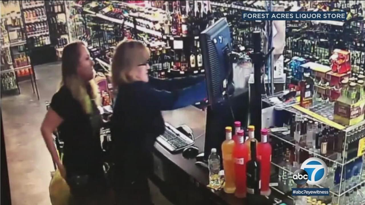 A mother and daughter open fire on a robbery suspect in their Tulsa, Oklahoma, liquor store.