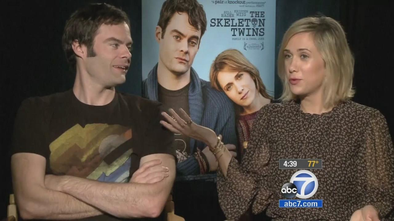 SNL alums Bill Hader and Kristen Wiig play estranged siblings who havent spoken in more than 10 years in their new film, The Skeleton Twins.