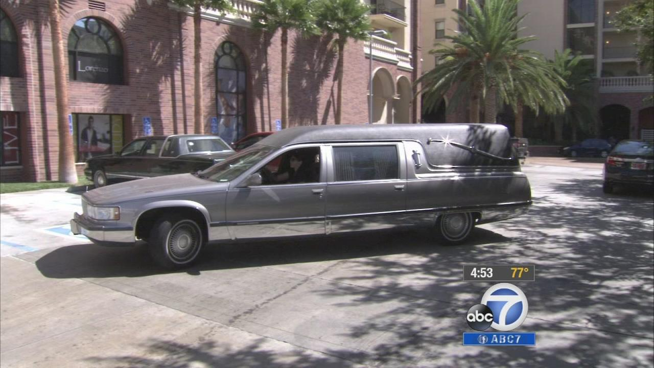 A 1996 Cadillac Fleetwood federal hearse owned by Samantha Kidner is shown in this undated file photo.
