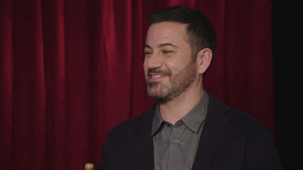 Jimmy Kimmel speaks during an interview about his Oscars hosting duties.