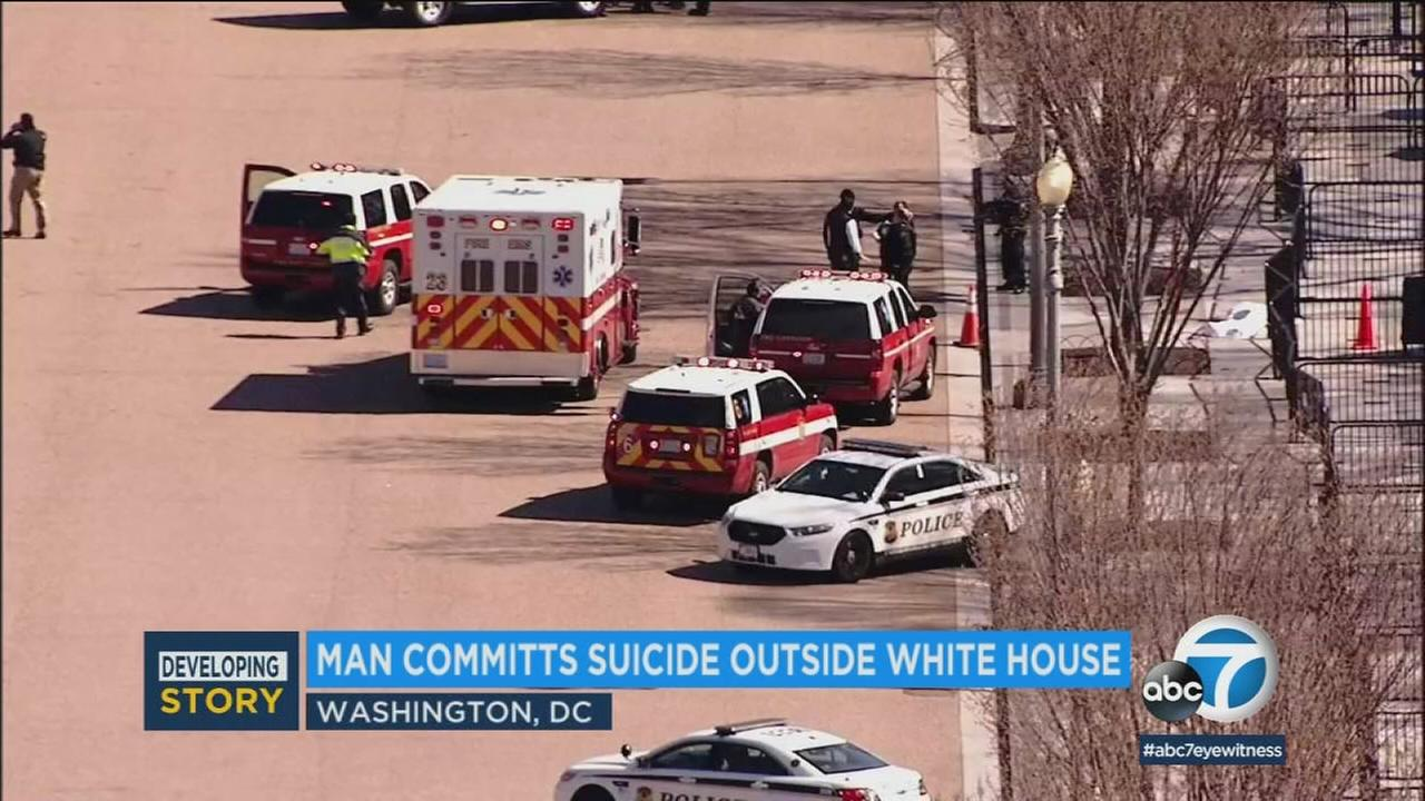 Authorities said a man shot himself to death outside the White House on Saturday, March 3, 2018.