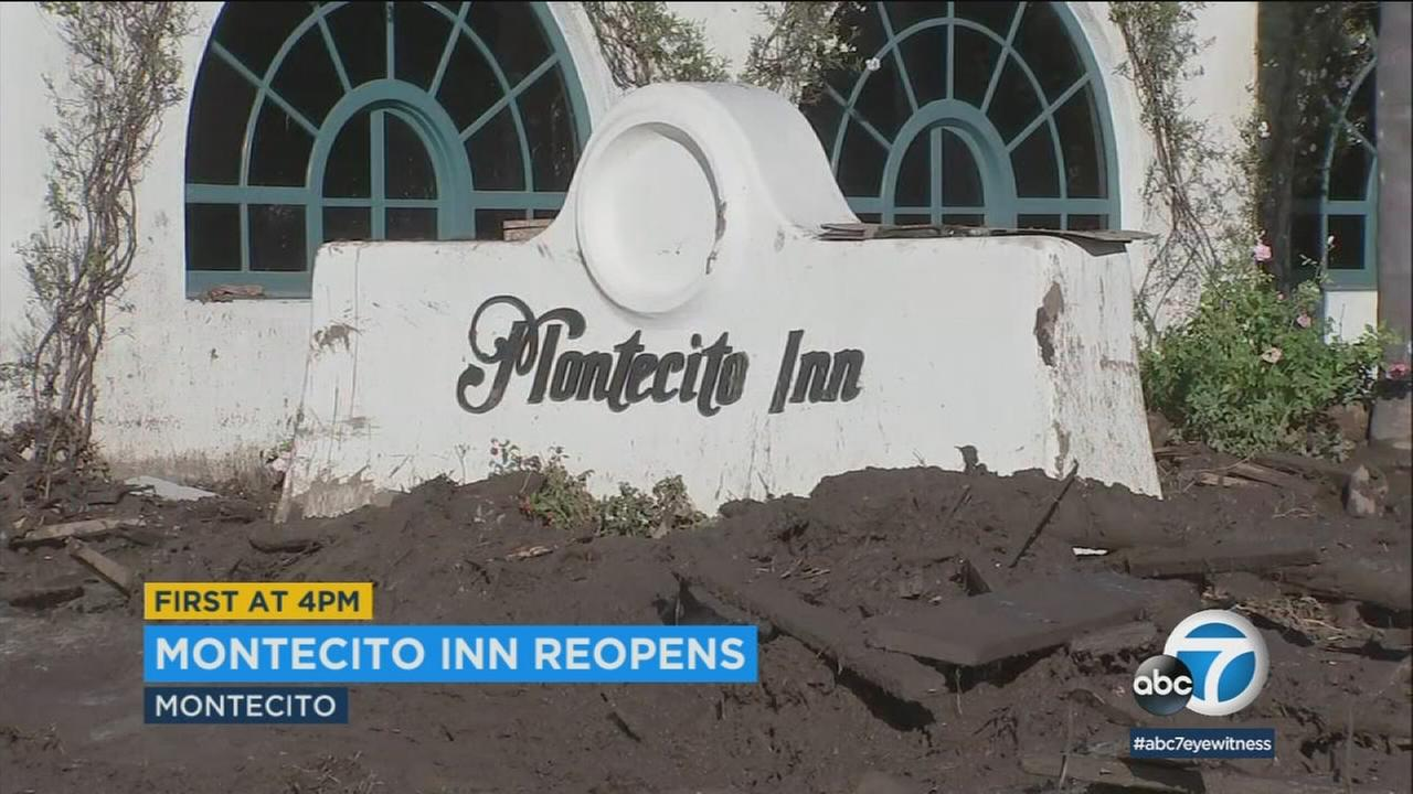 The Montecito Inn, which was inundated with mud during Januarys devastating storms, has finally reopened for business.