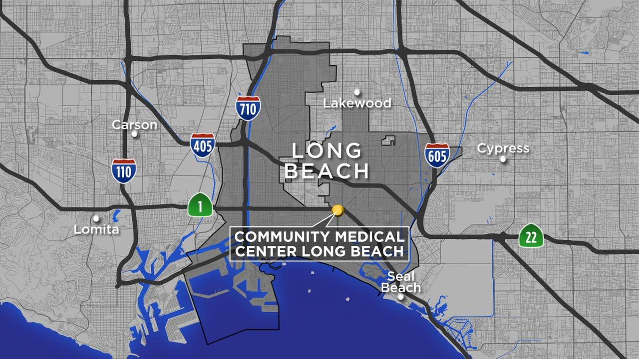 A map shows the location of Community Medical Center Long Beach.