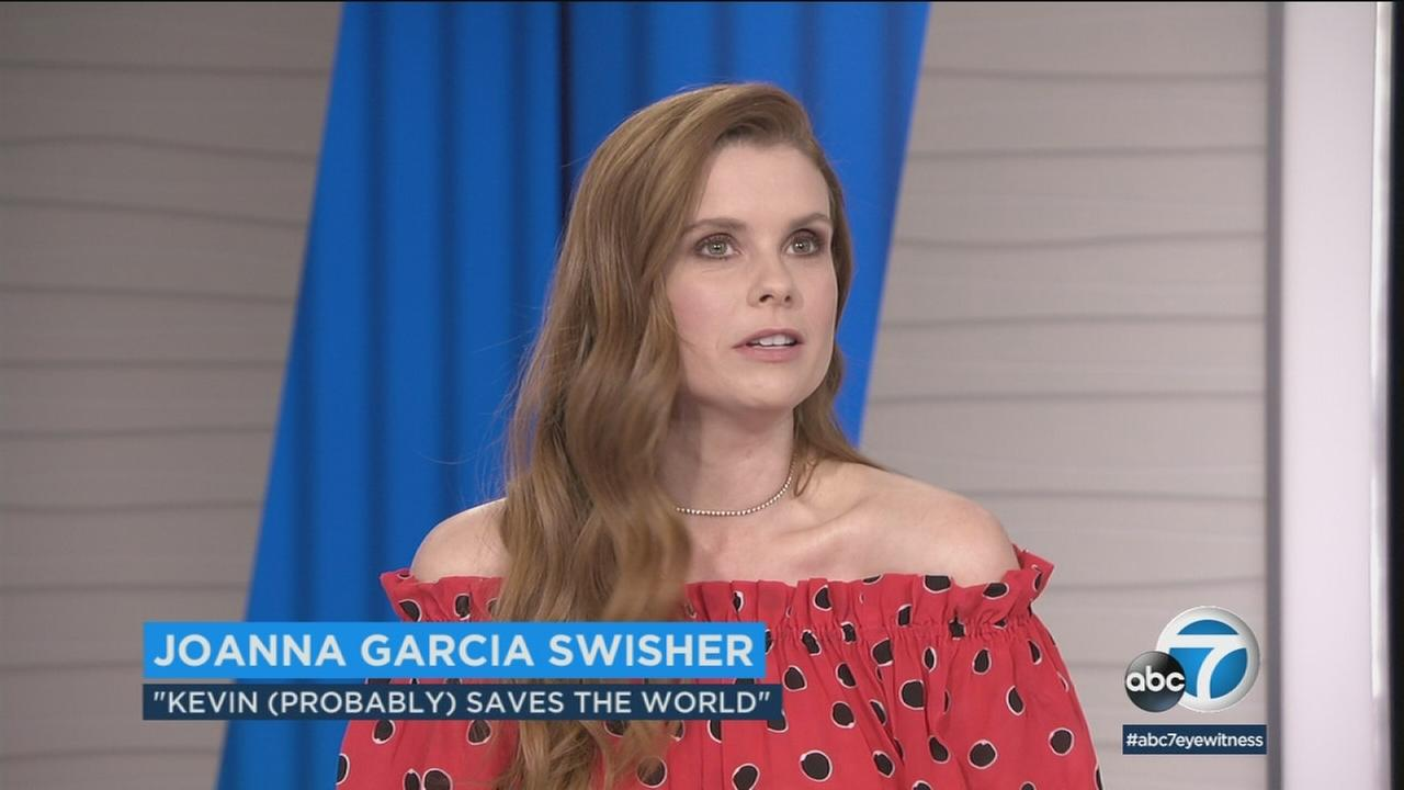 JoAnna Garcia Swisher, costar of the ABC sitcom Kevin (Probably) Saves the World stopped by ABC7 to talk about the shows season finale.