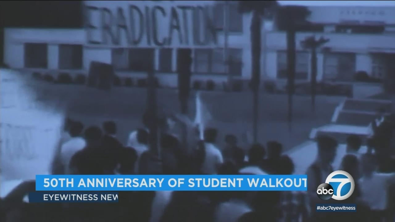 The LAUSD board recalled and re-enacted a walkout by thousands of Chicano students in 1968 demanding more educational equality.