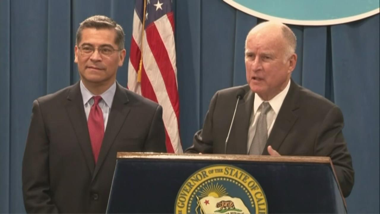 Gov. Jerry Brown and Attorney General Xavier Becerra fired back at the Trump administration over a DOJ lawsuit against the states sanctuary policies Wednesday, March 7, 2018.