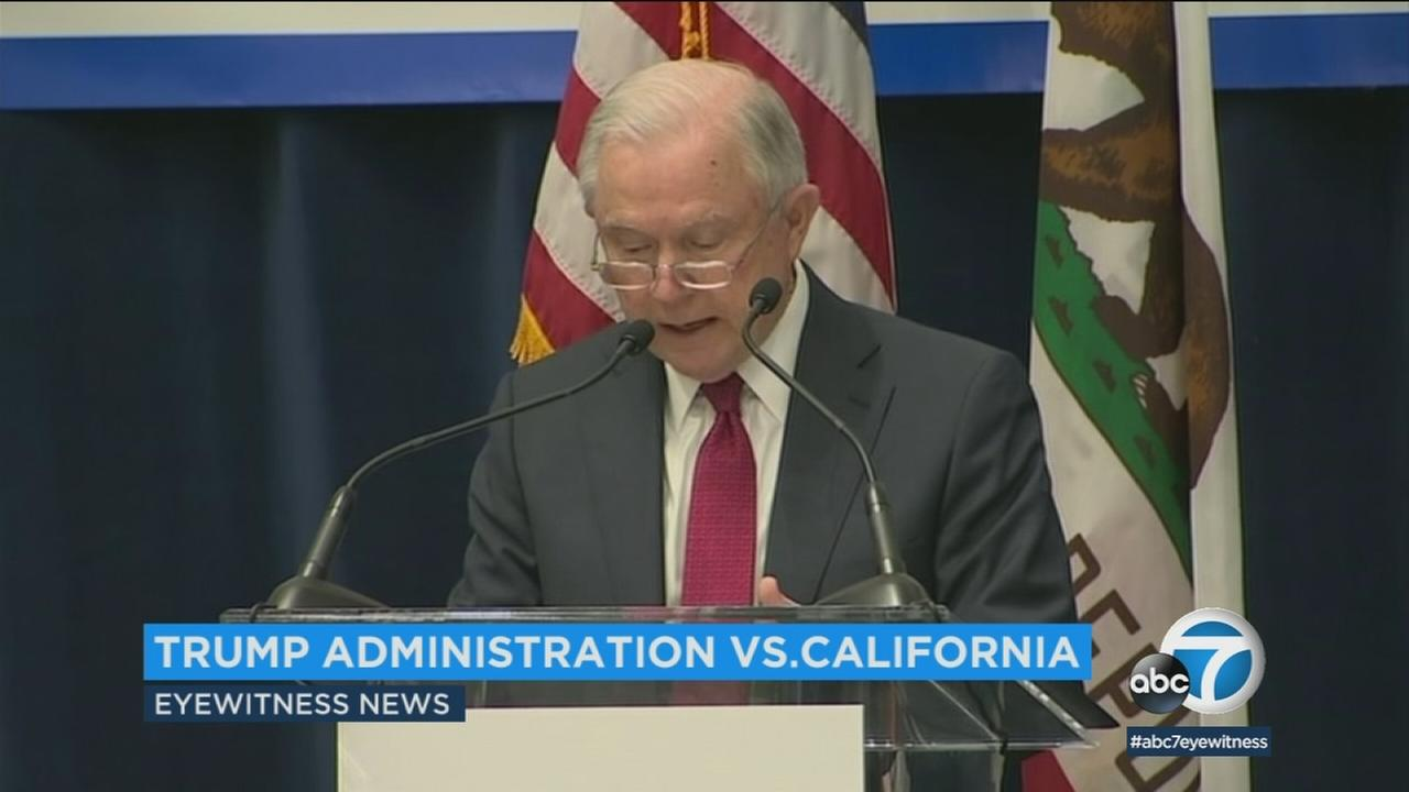 California residents are split over their support of the Department of Justices lawsuit to block state laws that extend protections to people living in the U.S. illegally.