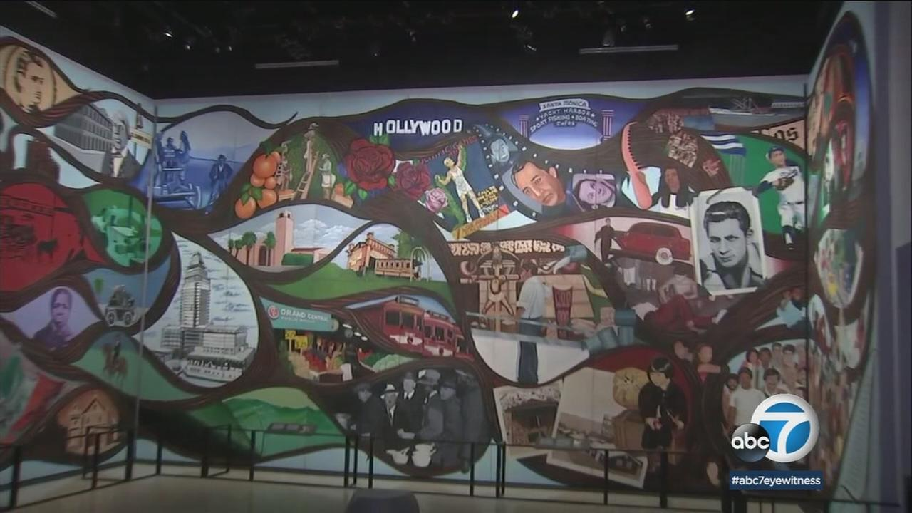 An 80-foot mural recounting the history of Los Angeles will soon be displayed in its entirety, for the first time ever, at the Natural History Museum of L.A.