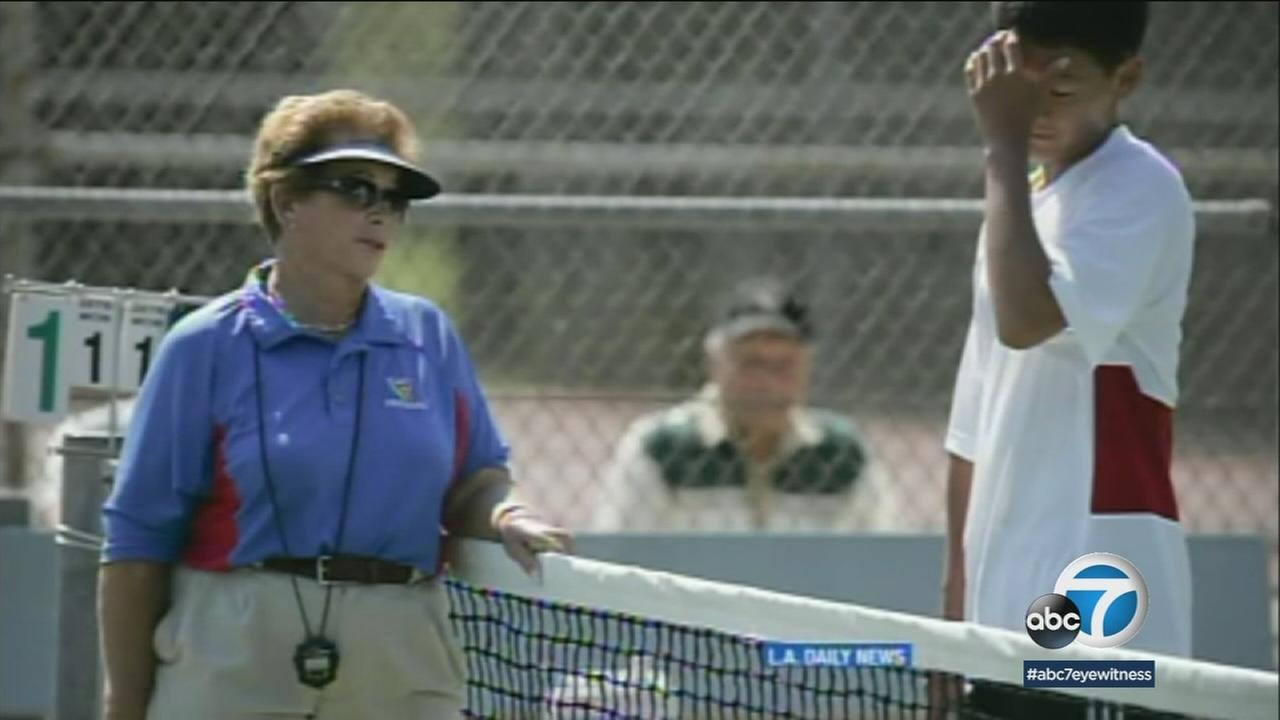 Woodland Hills resident and tennis umpire Lois Goodman is show in an undated photo.