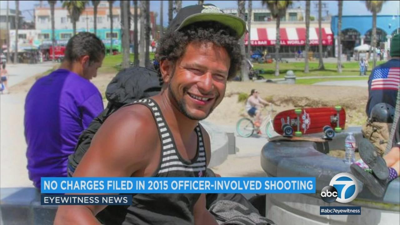 The Los Angeles District Attorneys Office wont file charges against a former police officer who shot and killed a transient man in Venice in 2015, prosecutors said.