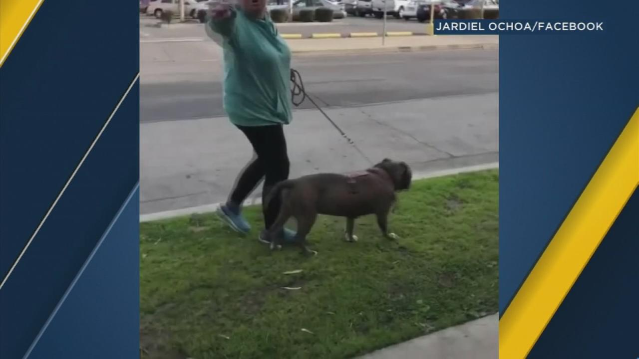 A woman was caught on video saying Mexicans think they own America after a man asked her to pick up her dogs poop, Thursday, March 8, 2018.